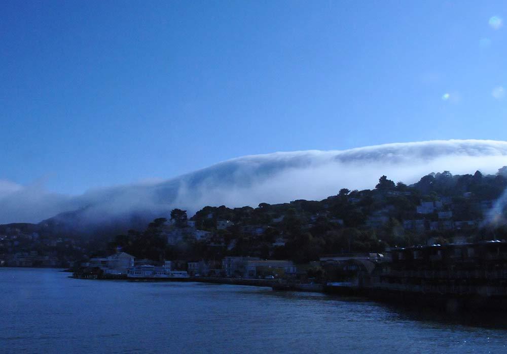 Sausalito e nuvole